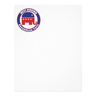 West Virginia Republican Party Letterhead Design