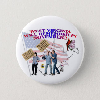 West Virginia - Return Congress to the People! Pinback Button