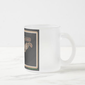 West Virginia Rig Up Camo Frosted Glass Coffee Mug