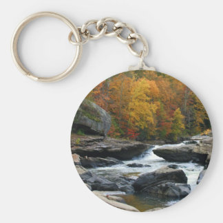 West Virginia River in the fall Keychain
