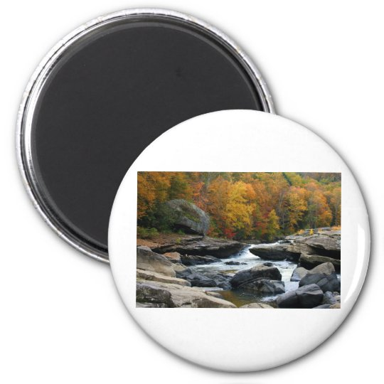 West Virginia River in the fall Magnet