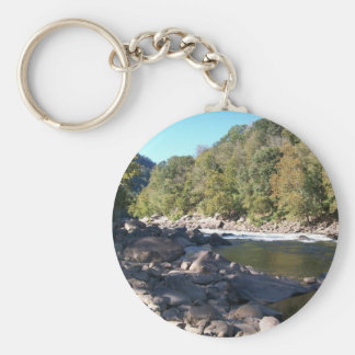 West Virginia River Keychain