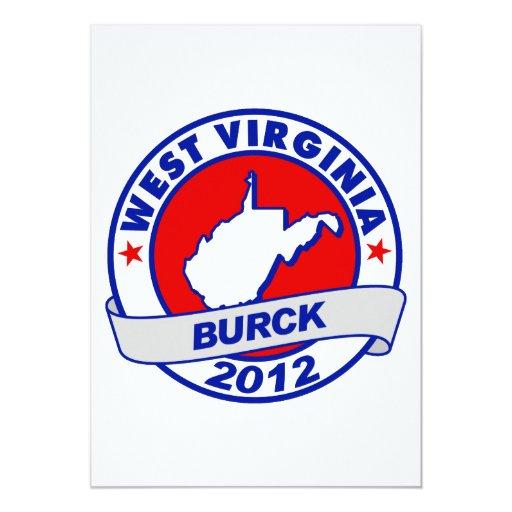 West Virginia Robert Burck 5x7 Paper Invitation Card