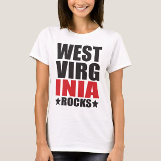 West Virginia Rocks! State Spirit Gifts and Appare T-Shirt