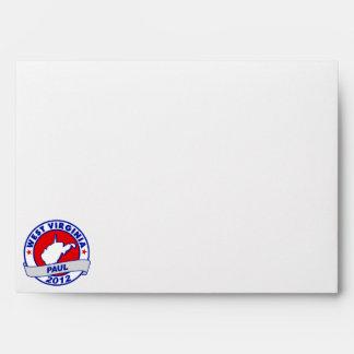 West Virginia Ron Paul Envelopes