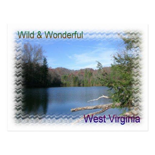 West Virginia Rustic Lake Post Card