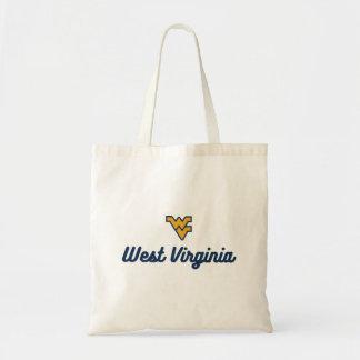 West Virginia   Script Logo Tote Bag