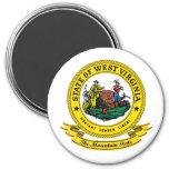 West Virginia Seal 3 Inch Round Magnet