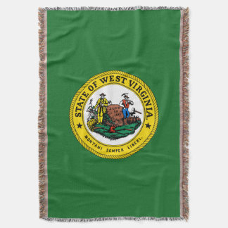 West Virginia seal, American state seal Throw