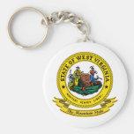 West Virginia Seal Basic Round Button Keychain