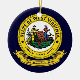 West Virginia Seal Ceramic Ornament