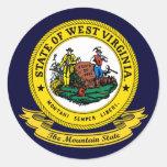 West Virginia Seal Classic Round Sticker