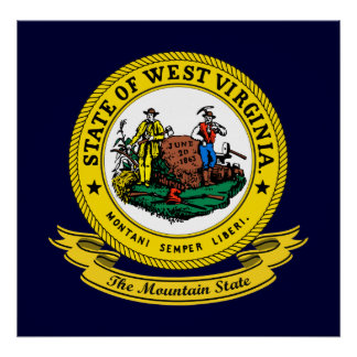 West Virginia Seal Poster