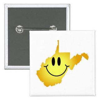 West Virginia Smiley Face Button