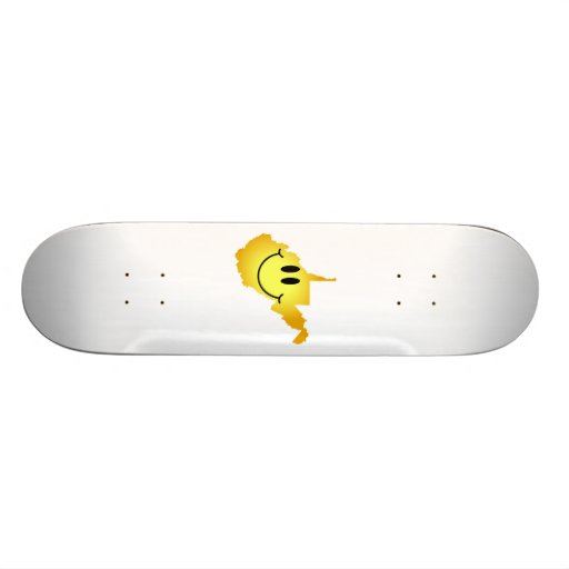 West Virginia Smiley Face Custom Skateboard
