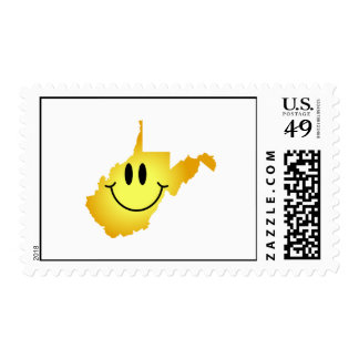 West Virginia Smiley Face Stamp