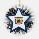 West Virginia Star Ornaments