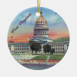 West Virginia State Capitol Ceramic Ornament