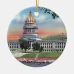 West Virginia State Capitol Christmas Ornament