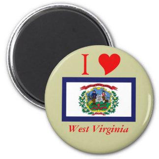 West Virginia State Flag 2 Inch Round Magnet
