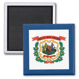 West Virginia State Flag 2 Inch Square Magnet