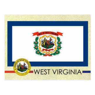 West Virginia State Flag and Seal Postcard