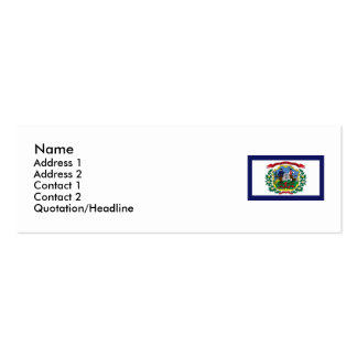 West Virginia State Flag Business Card