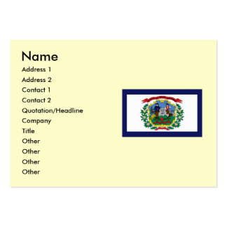 West Virginia State Flag Business Cards