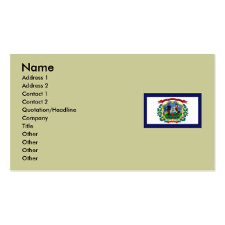 West Virginia State Flag Business Card Templates