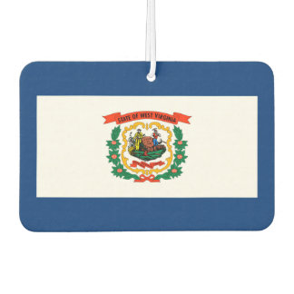West Virginia State Flag Design Air Freshener