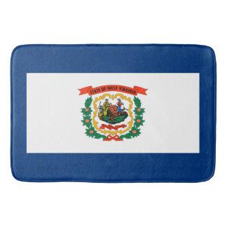 West Virginia State Flag Design Bathroom Mat