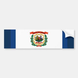 West Virginia State Flag Design Bumper Sticker