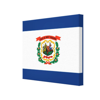 West Virginia State Flag Design Canvas Print