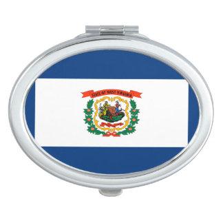 West Virginia State Flag Design Decor Mirror For Makeup