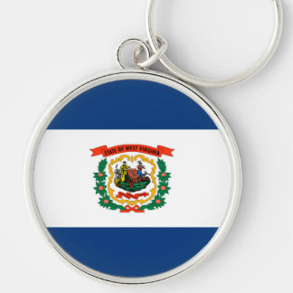West Virginia State Flag Design Keychain
