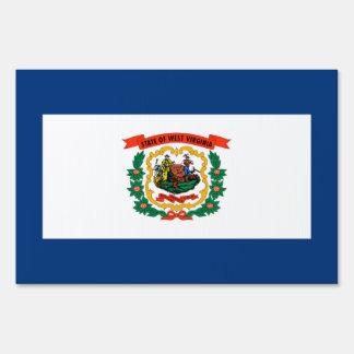 West Virginia State Flag Design Lawn Sign