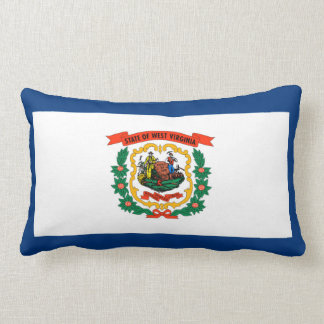 West Virginia State Flag Design Lumbar Pillow