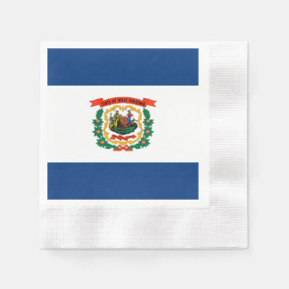 West Virginia State Flag Design Napkin