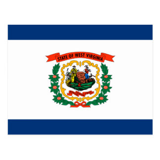 West Virginia State Flag Design Postcard