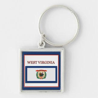 West Virginia State Flag Design Premium Keychain