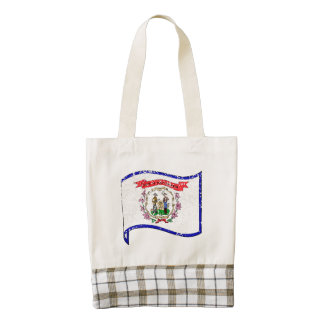 West Virginia State Flag (Distressed) Zazzle HEART Tote Bag