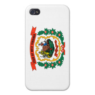 West Virginia State Flag Cases For iPhone 4