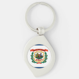 West Virginia State Flag Keychain