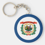 West Virginia State Flag Keychains