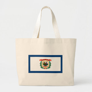 West Virginia State Flag Large Tote Bag