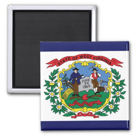 West Virginia State Flag Magnet