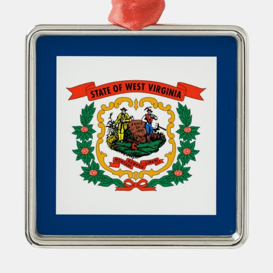 West Virginia State Flag Metal Ornament