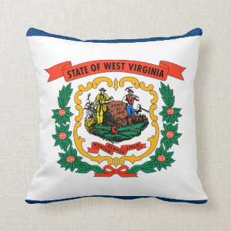 West Virginia State Flag Pillow