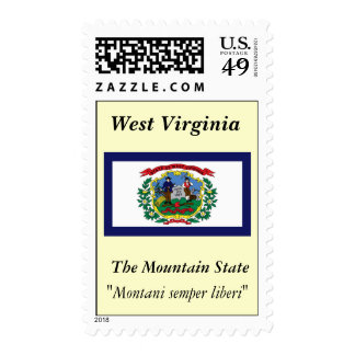 West Virginia State Flag Stamps