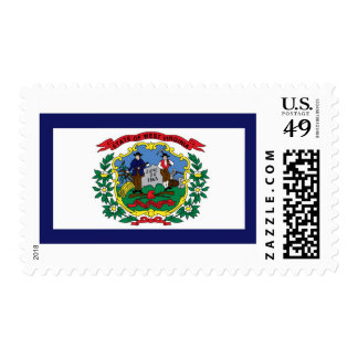 West Virginia State Flag Postage